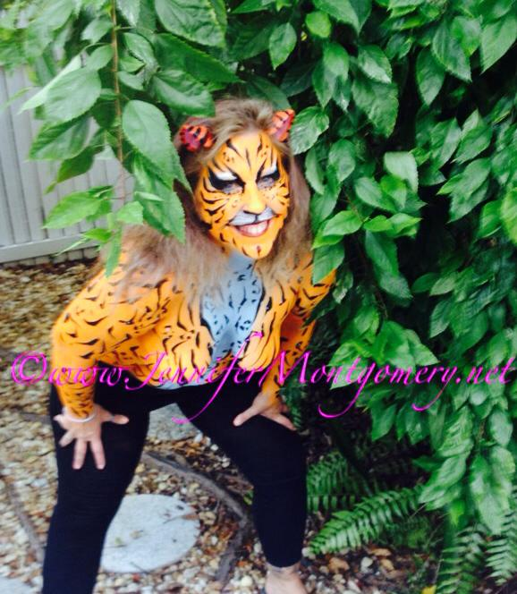 Interesting. Prompt, tiger body paint you cannot